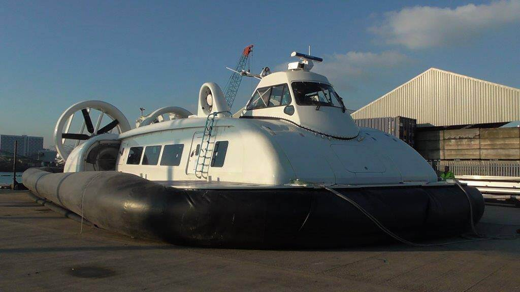 The new 12000TD hovercraft build for Hovertravel